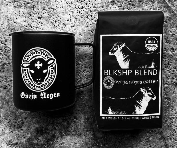BLK SHP Blend Coffee and Oveja Negra Mug