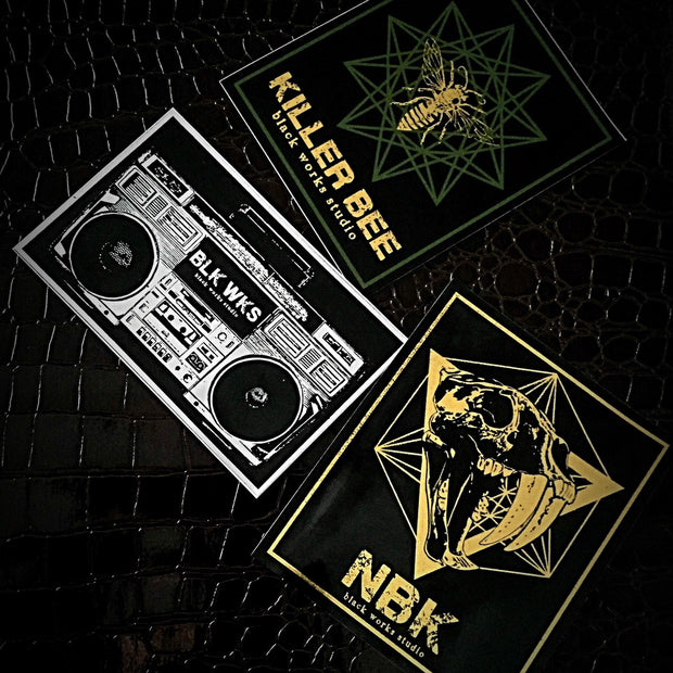 BLK WKS Sticker Set of Three