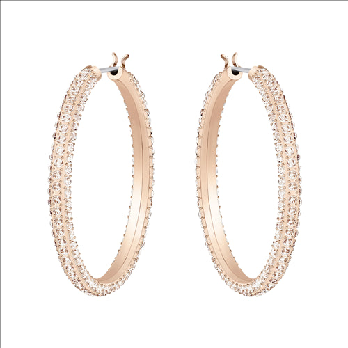 SWAROVSKI - Stone Hoop Earrings