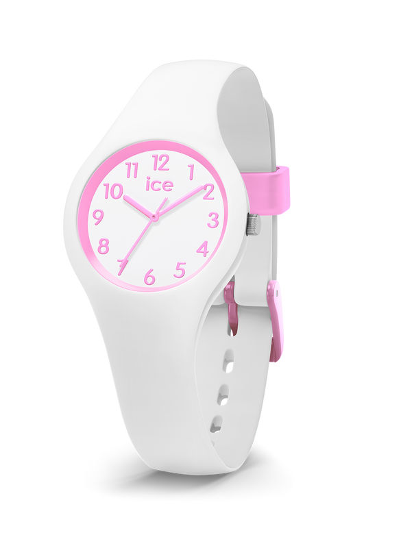 ICE WATCH Ola Kids Collection Pink Case 28mm (XS) White Dial White Strap