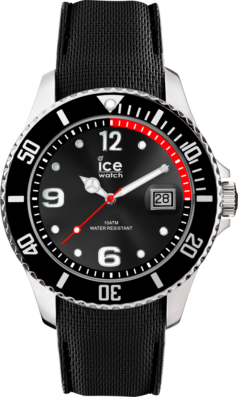 ICE WATCH Steel Collection Black Case 44mm (L) Black Dial Black Strap
