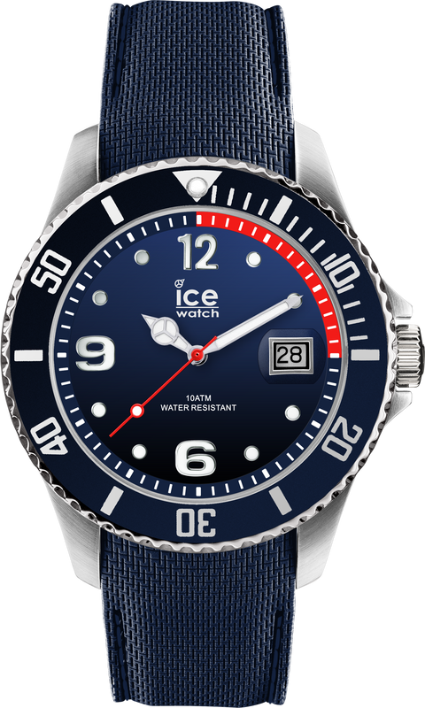 ICE WATCH Steel Collection Marine Blue Case 44mm (L) Marine Blue Dial Marine Blue Strap