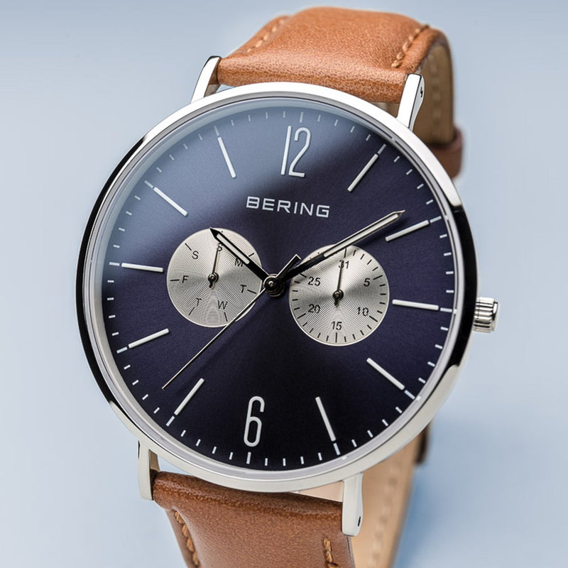 Bering Sale Polished Silver Watch