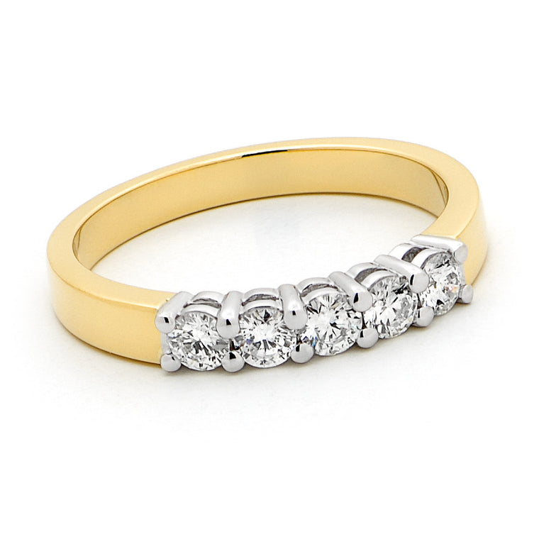 18ct Gold 5 Stone Ring