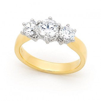 18ct Gold Trilogy with Filigree Setting