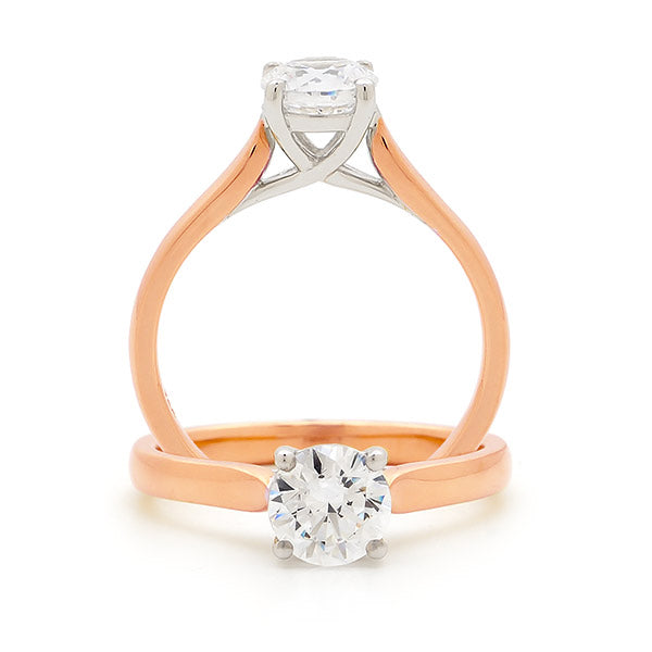 Rose Gold 1 Carat Diamond Solitaire