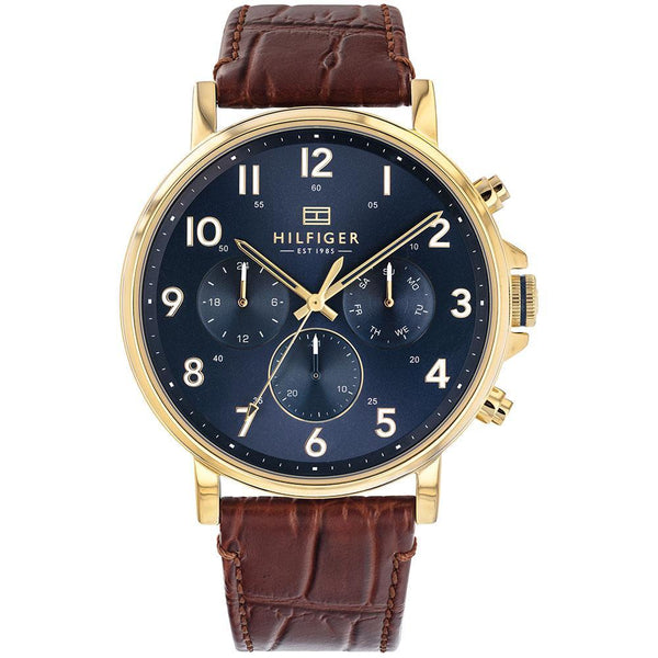 Tommy Hilfiger - Gents Multifunction Brown Leather Watch