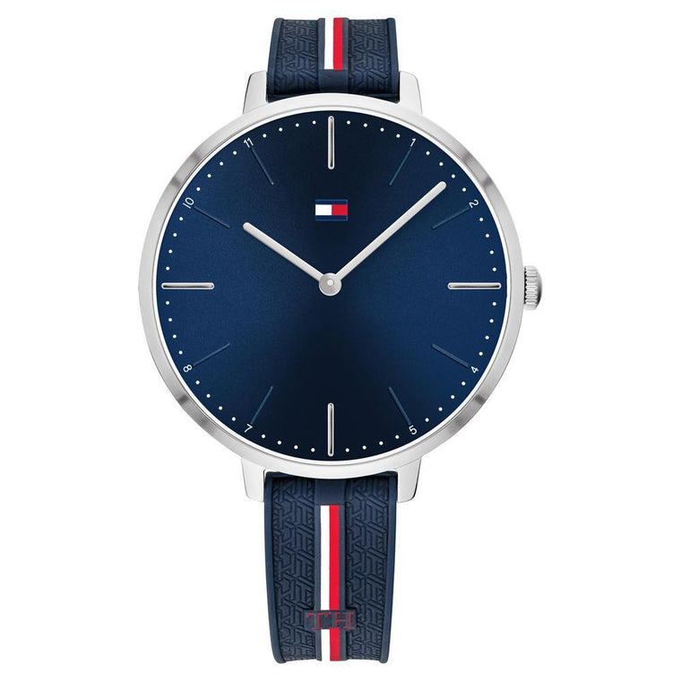 Ladies Navy Silicone Sports Watch