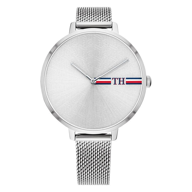Ladies Silver Mesh Watch