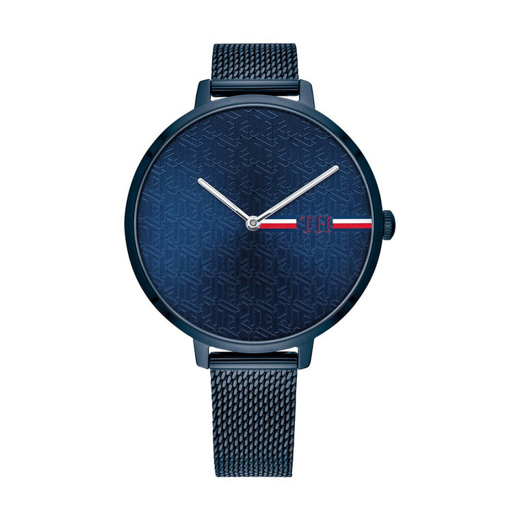 Ladies Navy Mesh Watch
