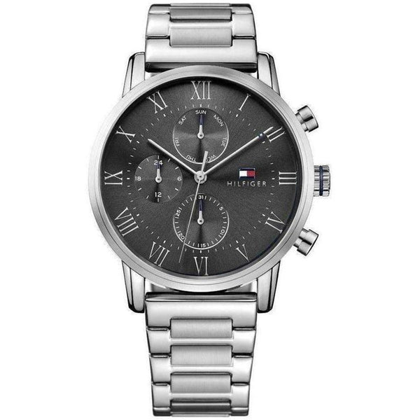 Tommy Hilfiger - Gents Multifunction Silver Steel Watch