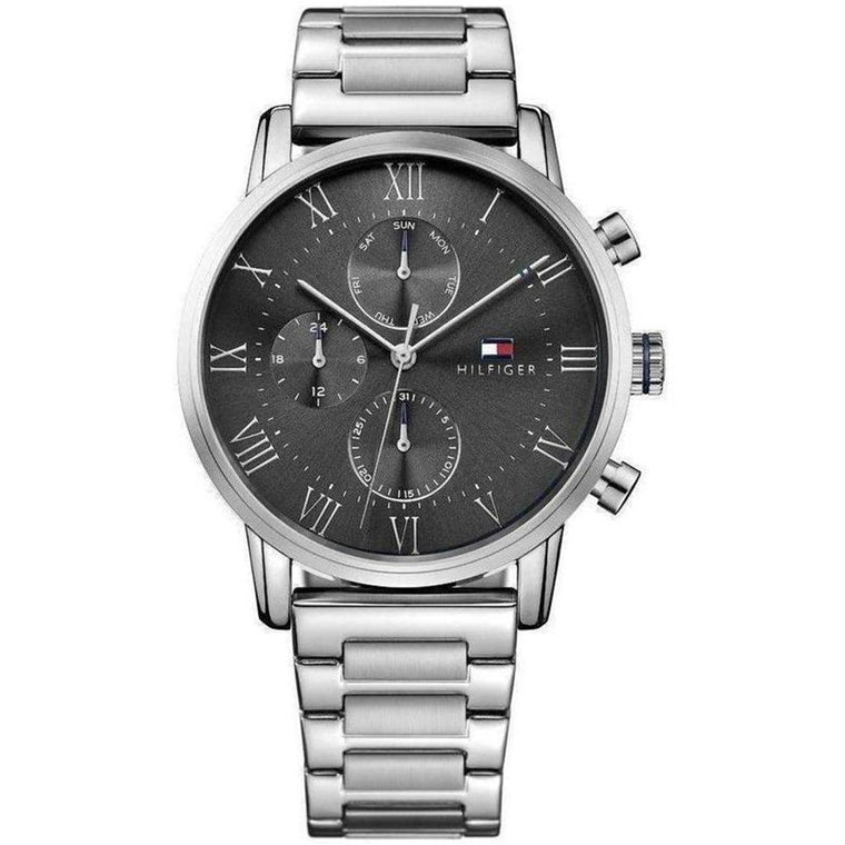 Gents Multifunction Silver Steel Watch