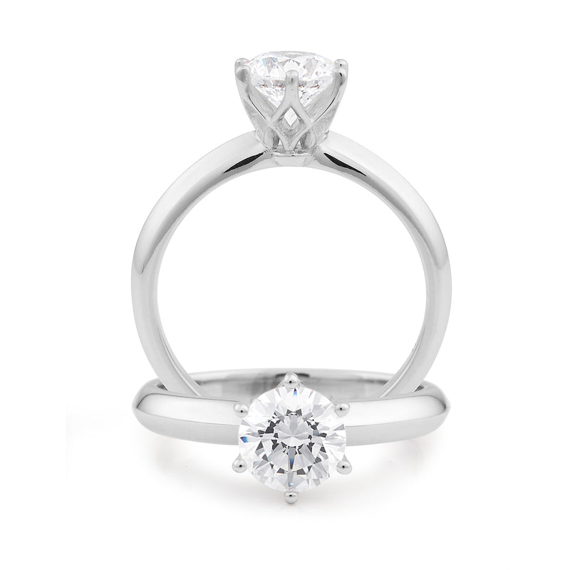 18ct White Gold 0.50ct Diamond Solitaire Engagement Ring