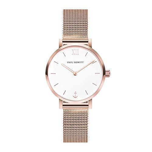 Paul Hewitt Modest White Sand RG Mesh Watch
