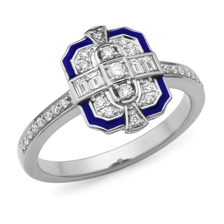 Bellino - Art Deco Style Diamond Ring
