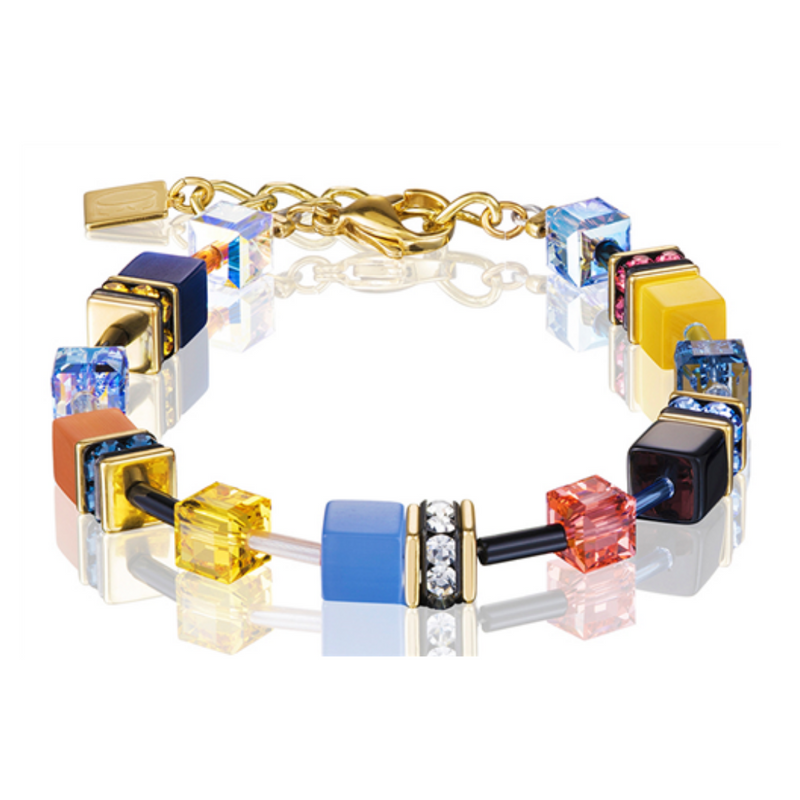 Coeur De Lion - GeoCube Yellow/Blue Bracelet
