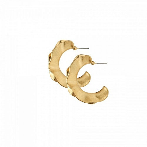 Dansk - Alaya Gold Plated Hoops