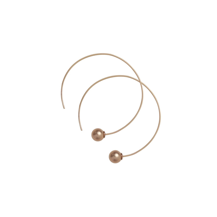 Dansk - Tabitha Open Ball Hematite Plated Hoops