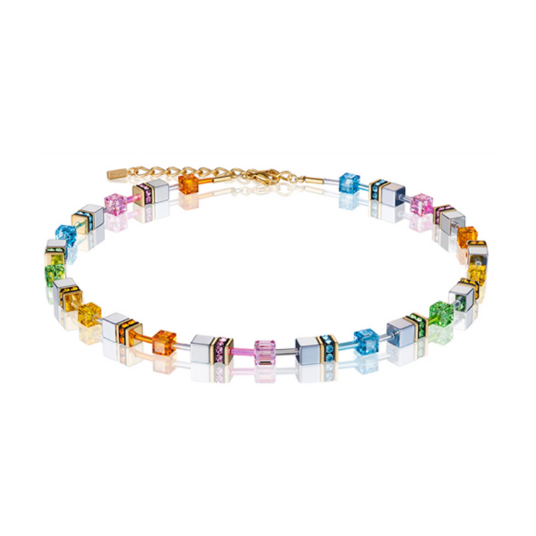 Coeur De Lion - GeoCube Rainbow Necklace