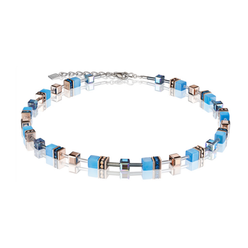 Coeur De Lion - GeoCube Blue Necklace