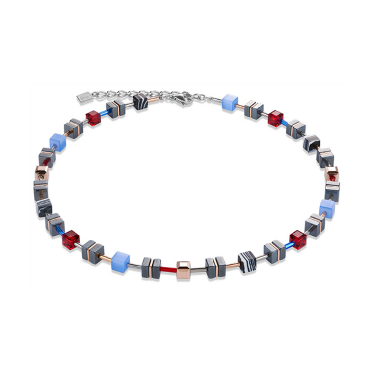 Coeur De Lion - GeoCube Red/Blue Necklace
