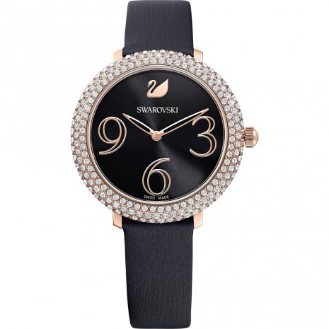 SWAROVSKI - Crystal Frost Watch Black Ladies Watch