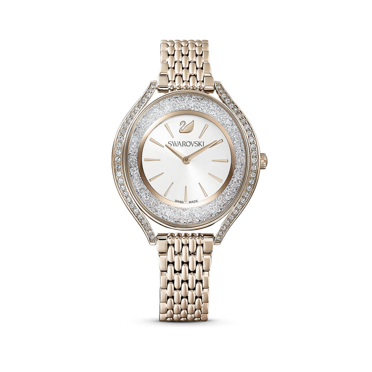 SWAROVSKI - Crystalline Aura Ladies Watch with Champagne Gold Tone Band