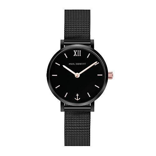 Paul Hewitt Modest Black Sunray Mesh Watch