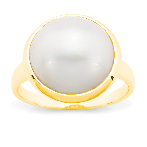 Iris' Mabe Pearl Ring in 9ct Yellow Gold
