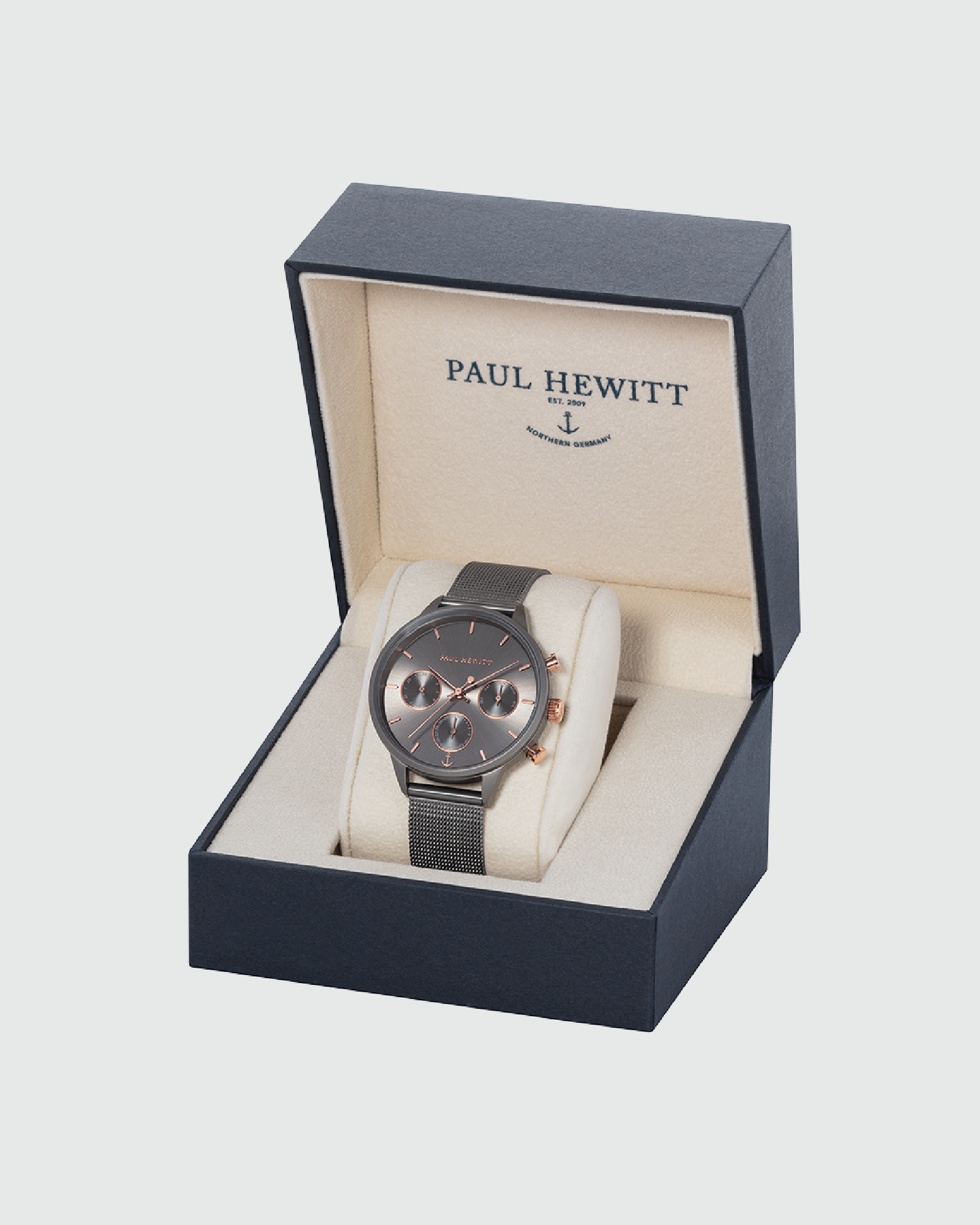 Paul Hewitt Everpulse Grey Metalic Mesh Watch