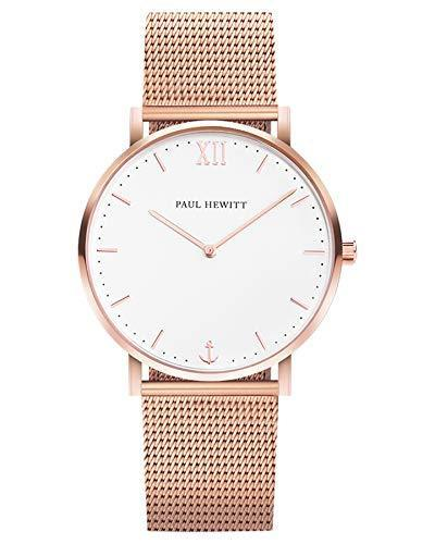 Paul Hewitt Sailor White Sand Rose Gold Mesh Watch