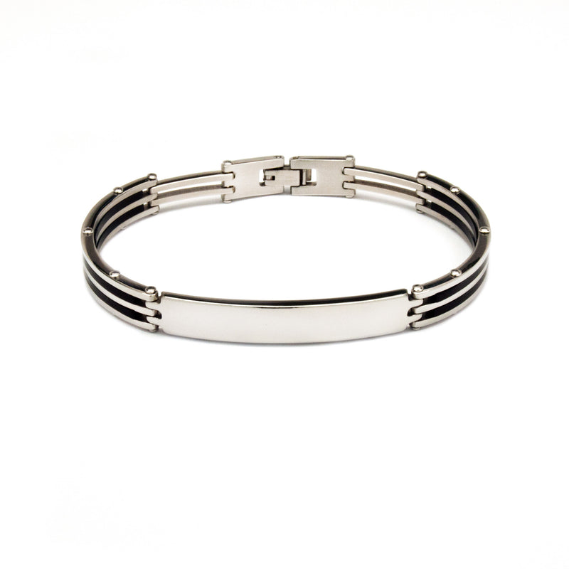 Stainless Steel Linear Gents Bracelet