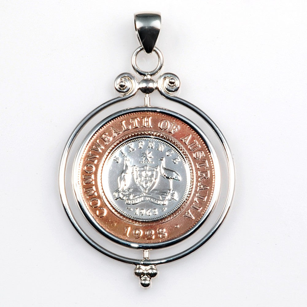 Mountain Creek Jewellery - Sixpence & Penny Pendant