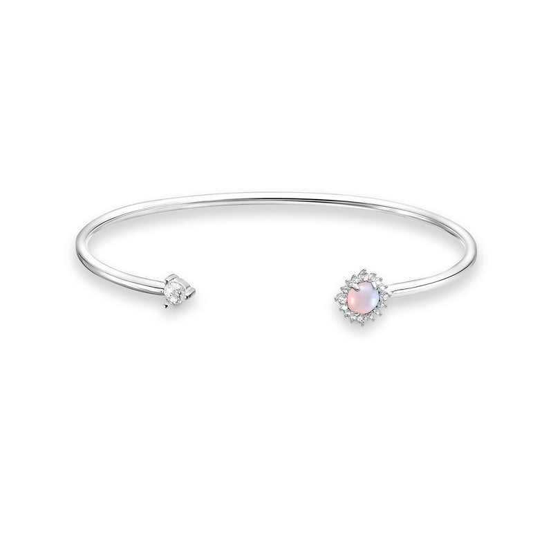 Thomas Sabo Bangle Pink Stone Silver