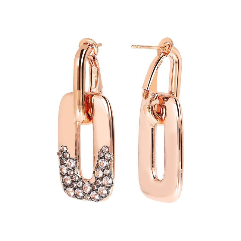 Bronzallure Cubic Zirconia Removable Pendant Hoop Earrings