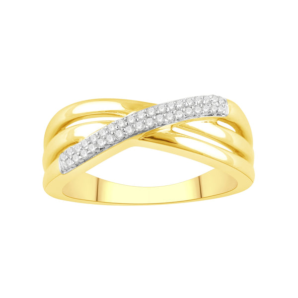 9ct yellow gold 0.12ct diamond ring
