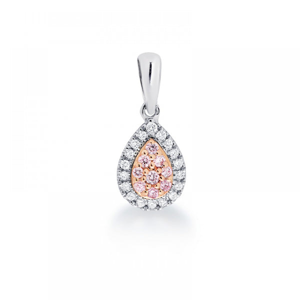 Blush Pink Pear Shaped Pink Argyle Diamond Pendant