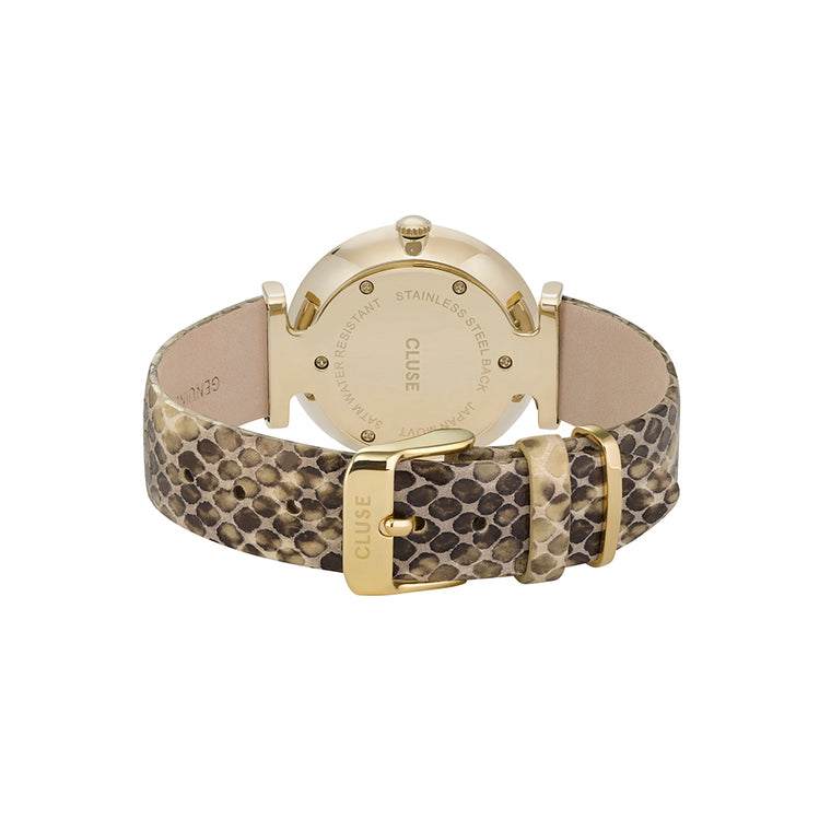 Cluse - Triomphe Gold, White Pearl & Soft Almond Python Watch