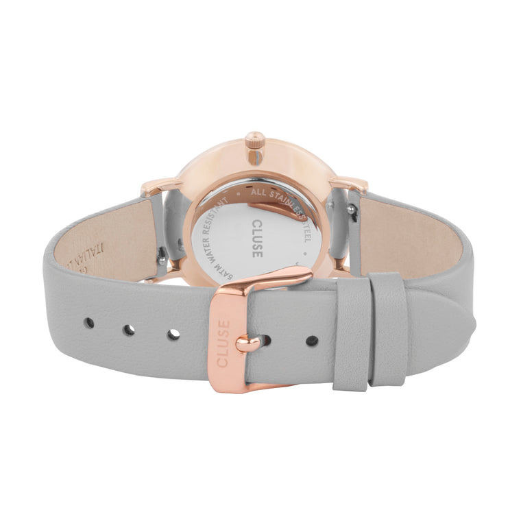 Cluse - Le Couronnement Rose Gold & Soft Grey Watch