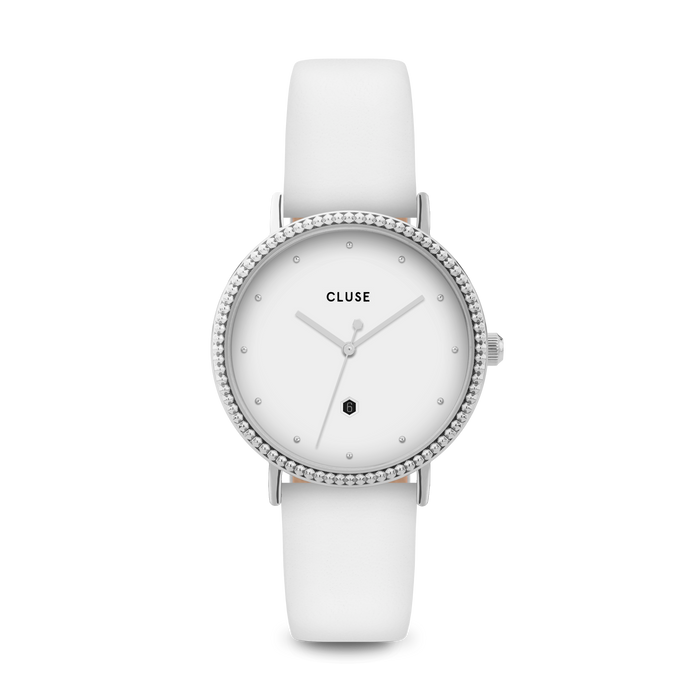 Cluse - Le Couronnement Silver & White Watch