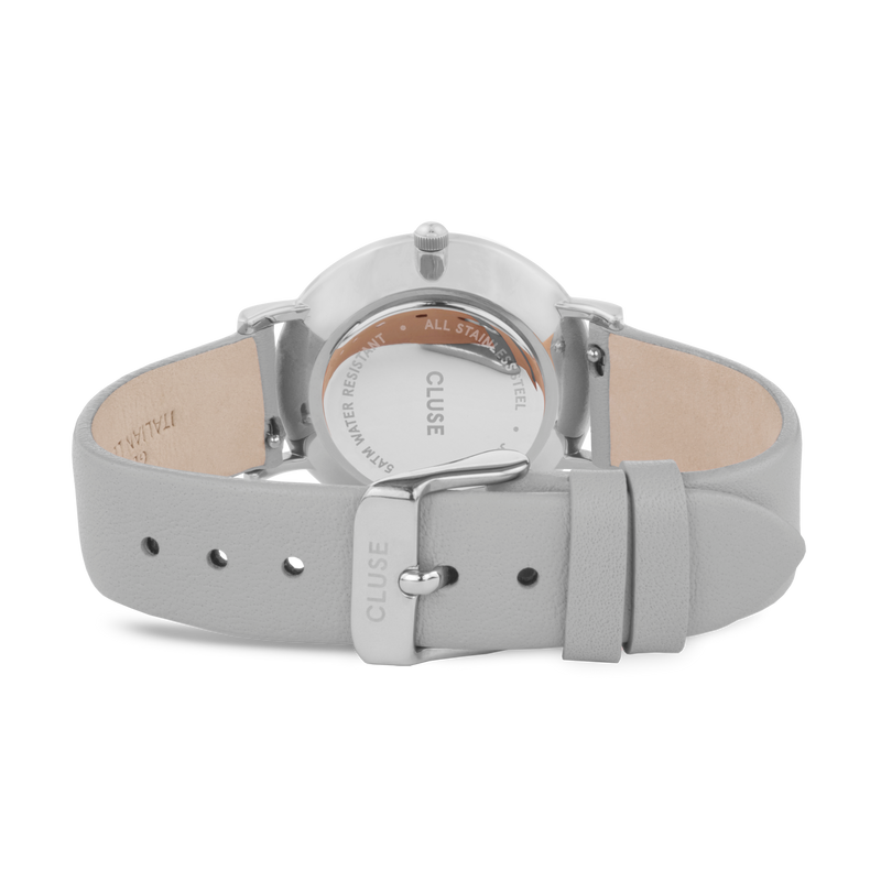 Cluse - Le Couronnement Silver & Soft Grey Watch