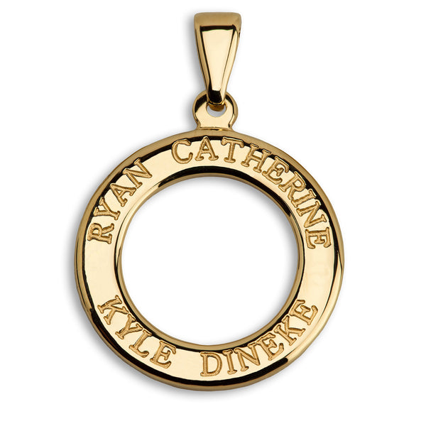 Small Personalised Ring Pendant