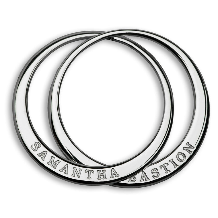 Personalised Double Link Ring Pendant - Large