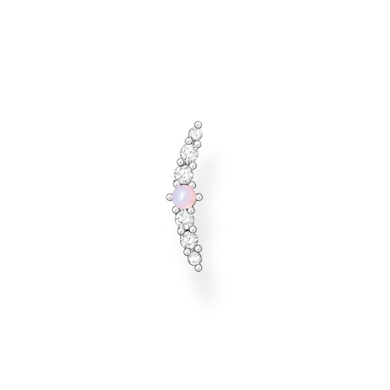Thomas Sabo Single Ear Stud Pink Stone Silver