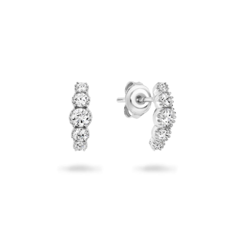 Georgini - Marl Sterling Silver Cubic Zirconia Stud Earrings