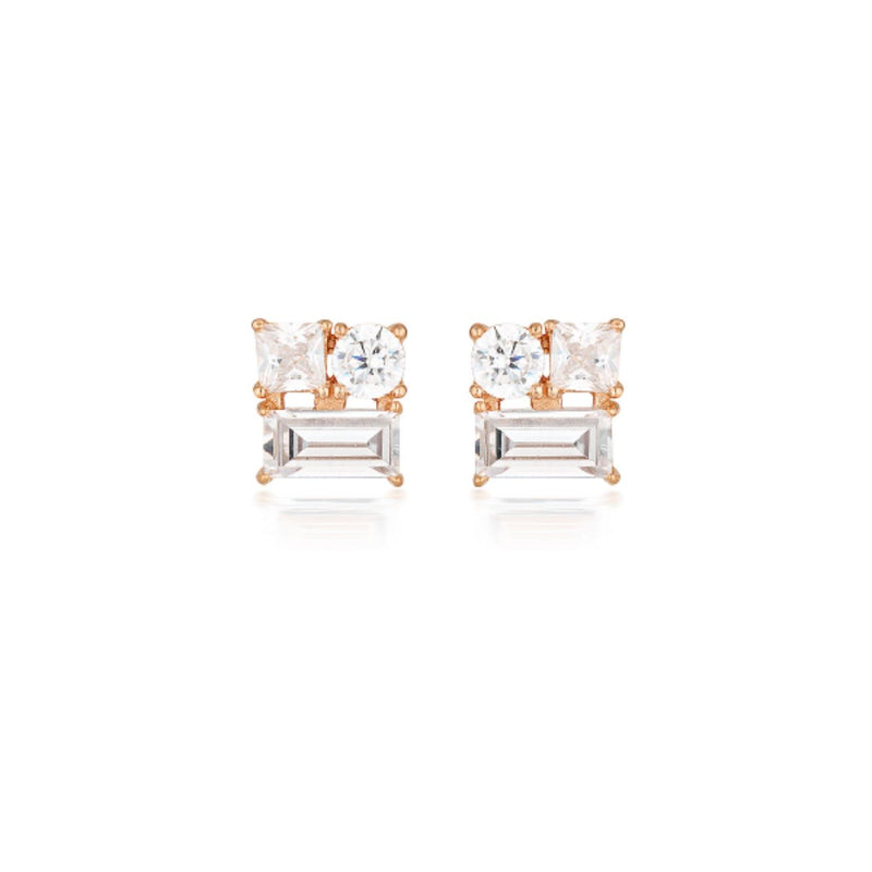 Georgini - Thea Rose Gold Plated Sterling Silver Cubic Zirconia Stud Earrings