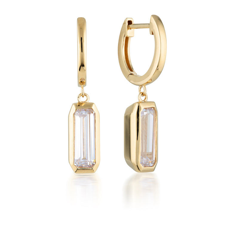 Georgini - Emilio Gold Plated White CZ Earrings