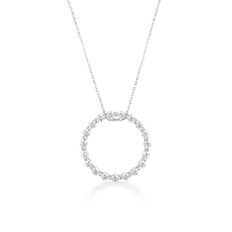 Georgini - Circle Of Life Sterling Silver Cubic Zirconia Necklet