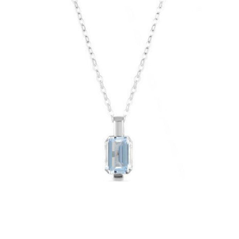 Georgini - Emilio Silver Aqua CZ Necklace