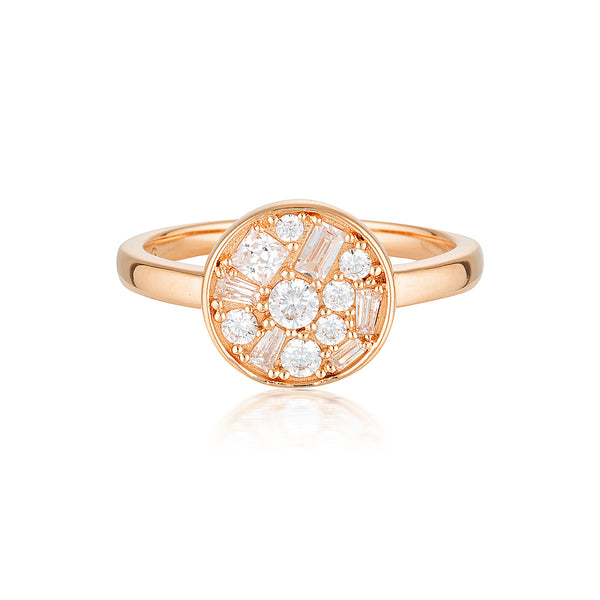 Georgini - Mosaic Disc Rose Gold Ring